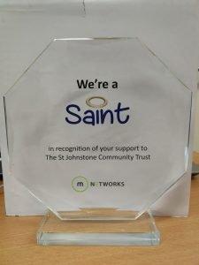 Saints in the Community Award.