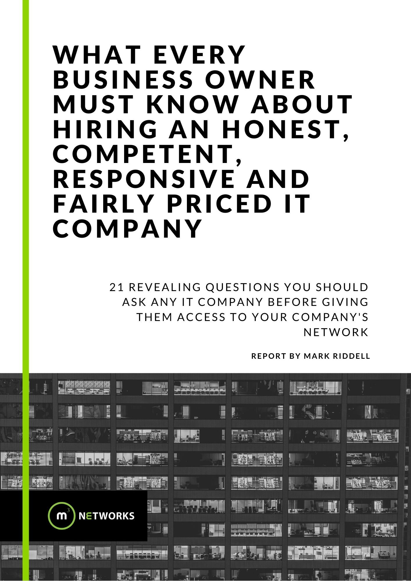 21 Questions Free Report